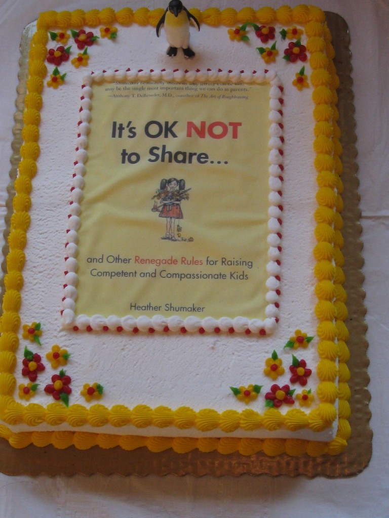 Best part of the book launch - a cake with the book cover on it!