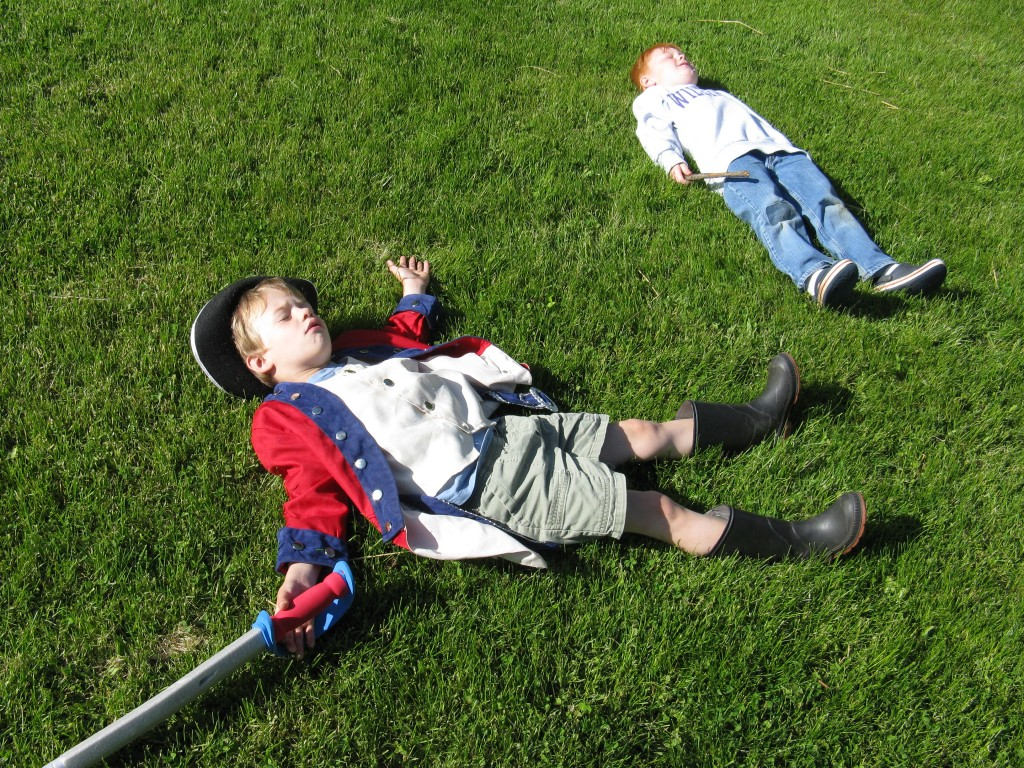 Playing dead is important work in early childhood.