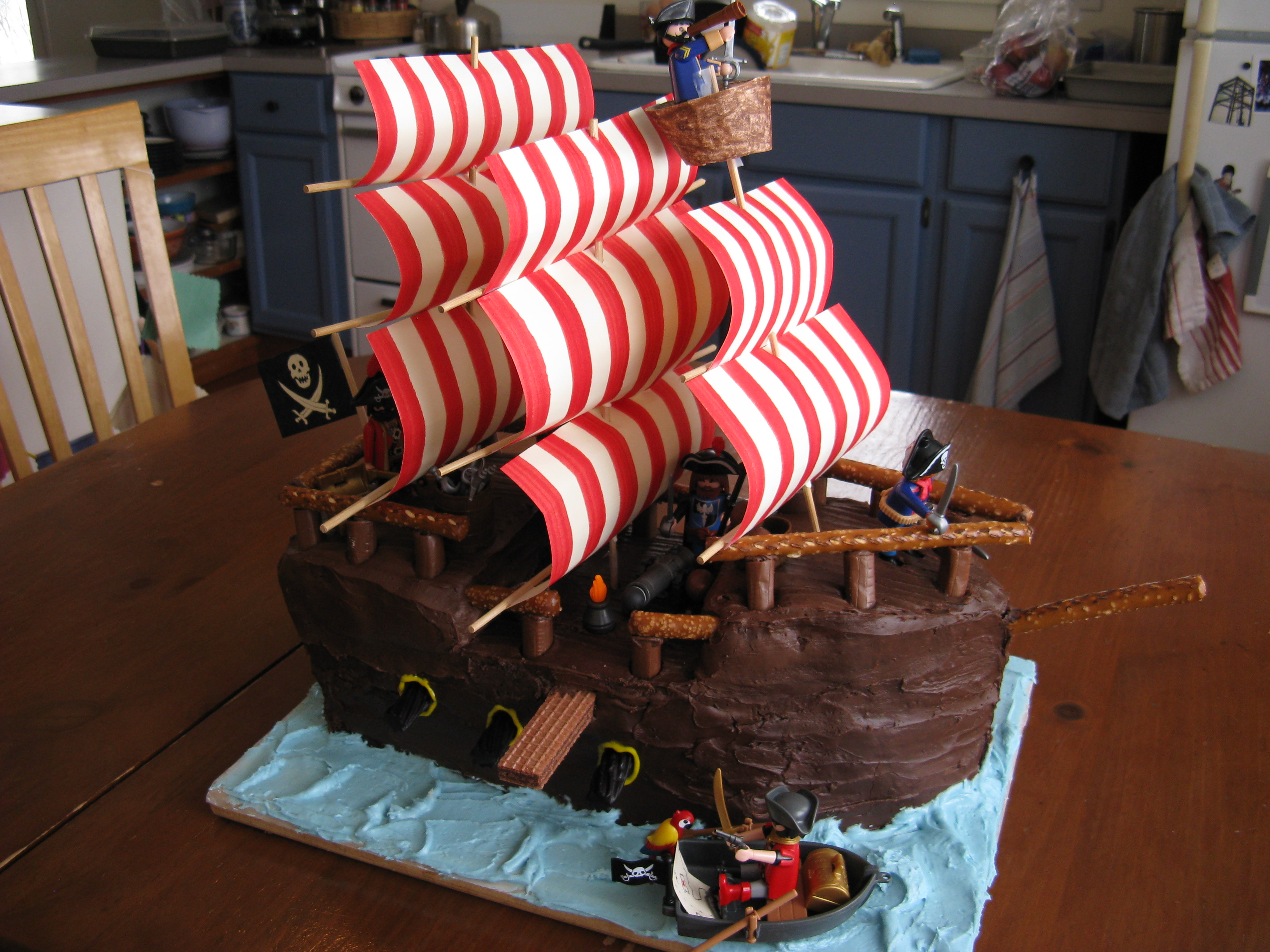The Pirate Ship Cake Is Exciting To Make But